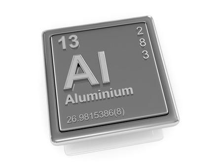 aluminium: Aluminium. Chemical element. 3d