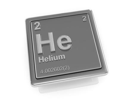 Helium. Chemical element. 3d