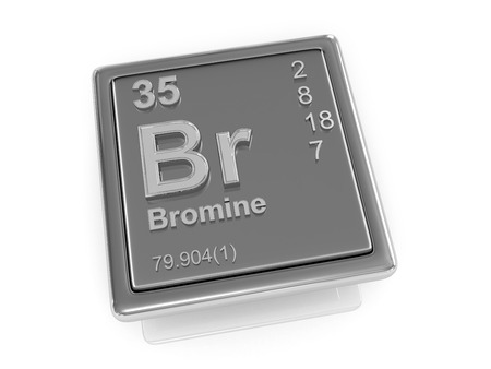 br: Bromine. Chemical element. 3d