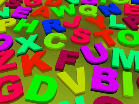 english letters: letters of the English alphabet. background