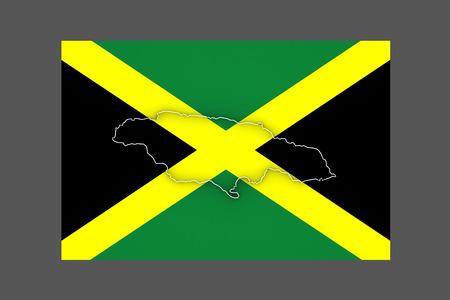 jamaica: Map of Jamaica. 3d