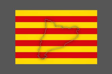 catalonia: Map of Catalonia. 3d