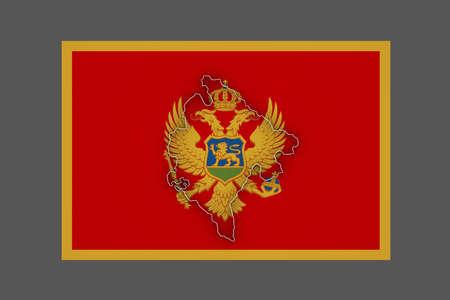 montenegro: Map of Montenegro. 3d