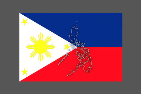 philippines: Map of Philippines. 3d