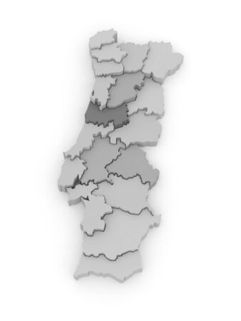 Three-dimensional map of Portugal. 3d photo