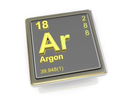 argon: Argon. Chemical element. 3d Stock Photo