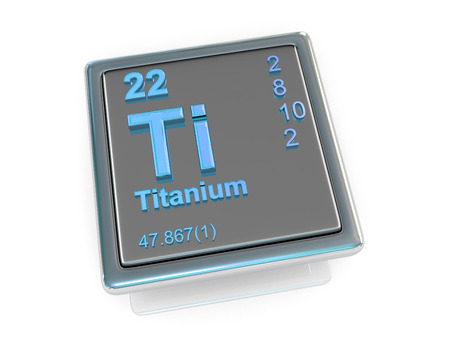 titanium: Titanium. Chemical element. 3d