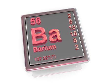 barium: Barium. Chemical element. 3d Stock Photo