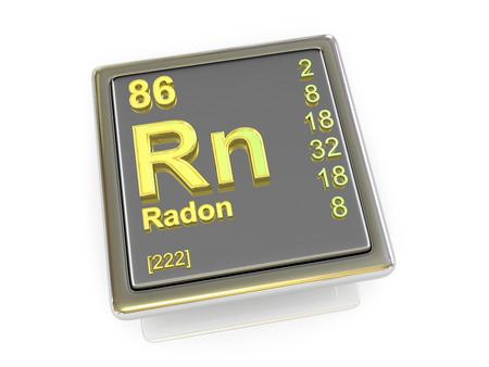 radon: Radon. Chemical element. 3d