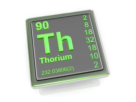 Thorium. Chemical element. 3d photo