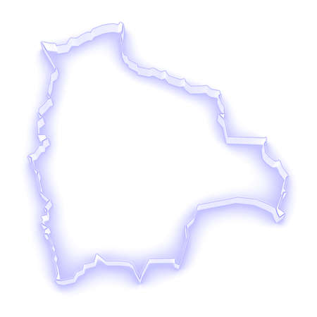 mapa de bolivia: Mapa de Bolivia. 3d