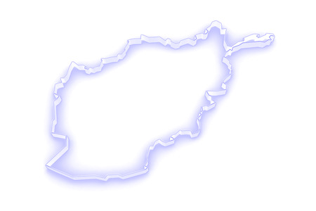 afghanistan': Map of Afghanistan. 3d Stock Photo