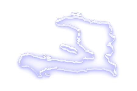 haiti: Map of Haiti. 3d