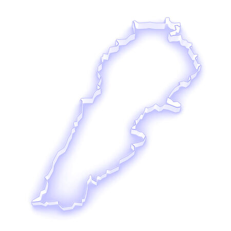 lebanon: Map of Lebanon. 3d