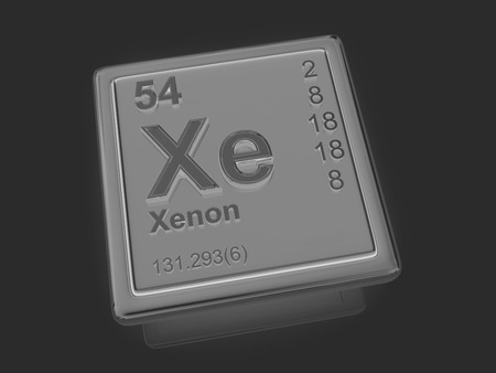 xenon: Xenon. Chemical element. 3d