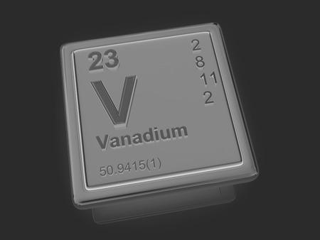 vanadium: Vanadium. Chemical element. 3d