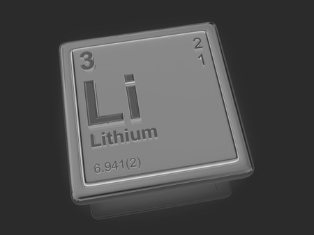 lithium: Lithium. Chemical element. 3d Stock Photo