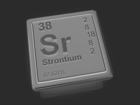 strontium: Strontium. Chemical element. 3d Stock Photo