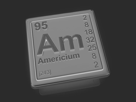 アメリシウム。化学要素。3 D ロ...