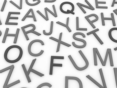 english letters: letters of the English alphabet background