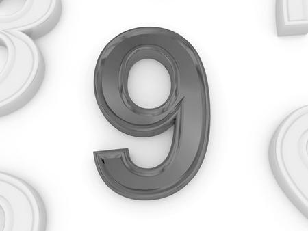 numero nueve: n�mero nueve en 3d