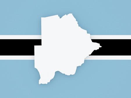 botswana: Map of Botswana. 3d