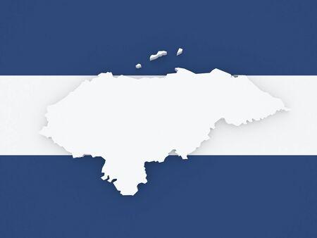 honduras: Map of Honduras. 3d