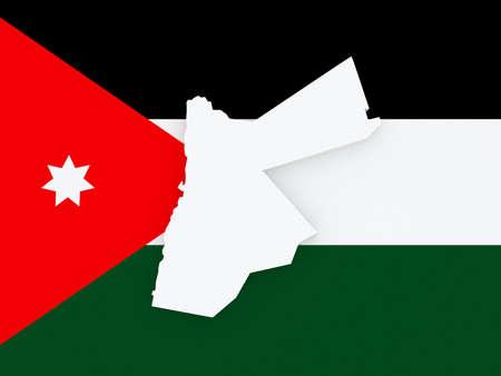 jordan: Map of Jordan. 3d Stock Photo