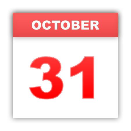 oct 31: 31 de octubre D�a en el calendario. 3d