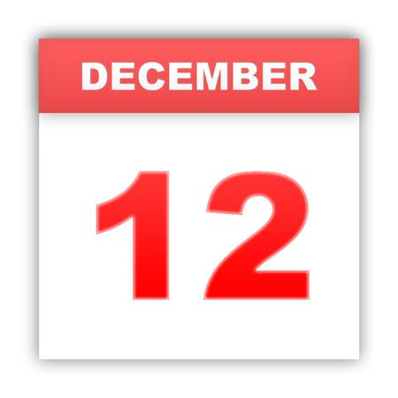 december: December 12. Day on the calendar. 3d