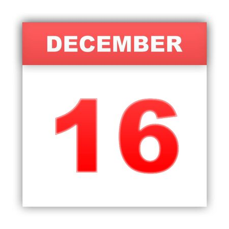 december: December 16. Day on the calendar. 3d