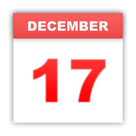 december: December 17. Day on the calendar. 3d