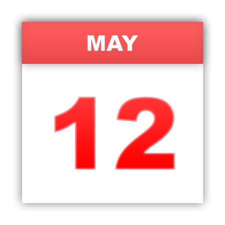 May 12. Day on the calendar. 3d