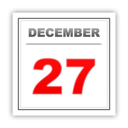 diciembre: 27 de diciembre D�a en el calendario. 3d