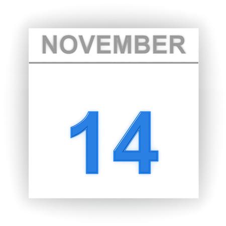 november 3d: November 14. Day on the calendar. 3d