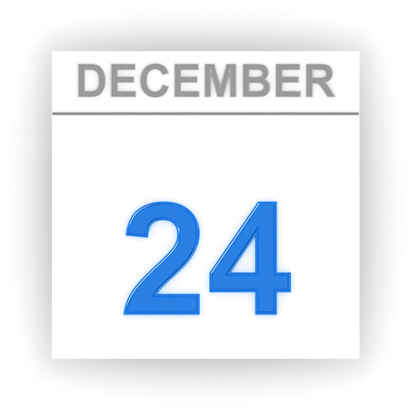december: December 24. Day on the calendar. 3d