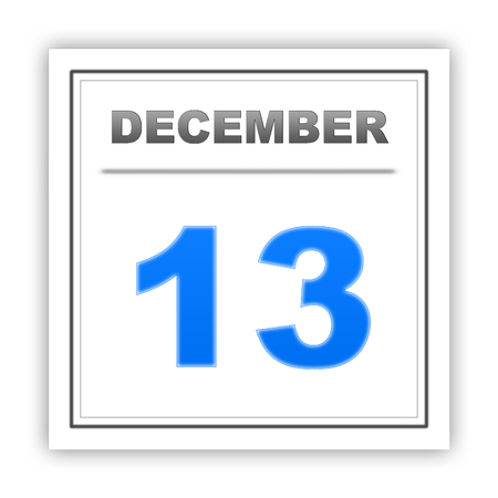 december: December 13. Day on the calendar. 3d