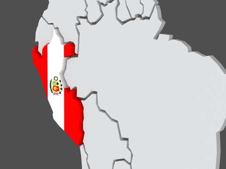 mapa del peru: Mapa de los mundos. Perú. 3d