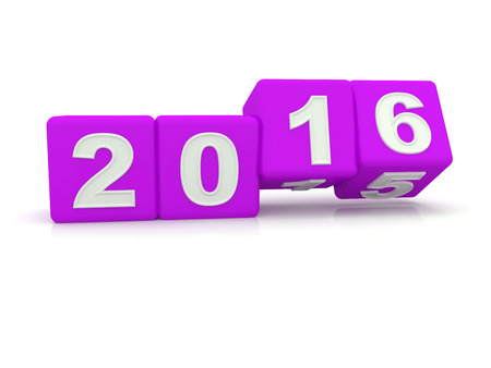 bonne ann�e: Happy New Year 2016. 3d Banque d'images