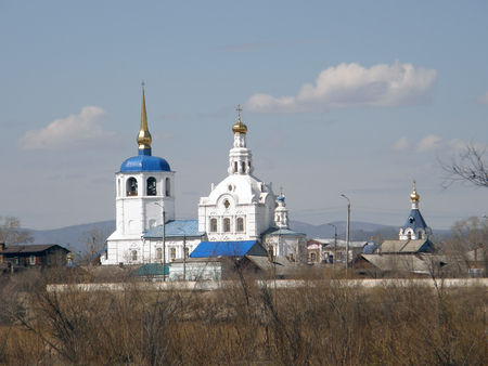 Orthodox Church. St. Odigitrievsky Cathedral. Ulan-Ude. Buryatia. Russia Stock Photo