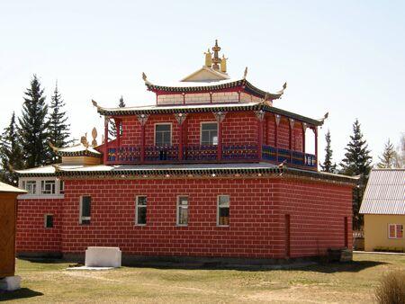 buryatia: Buddhist datsan. The Republic of Buryatia. Russia Stock Photo