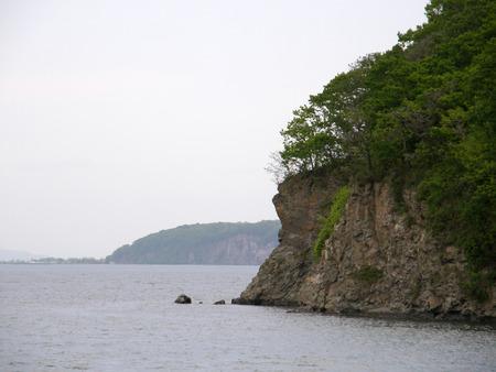 ussuri: Sea coast in the Far East. Vladivostok. Russian island. Ussuri Bay.