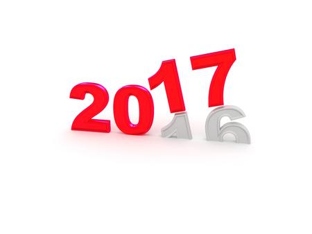 destination: Happy New Year 2017. 3D illustration