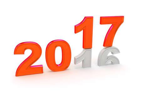 R: Happy New Year 2017. 3D illustration