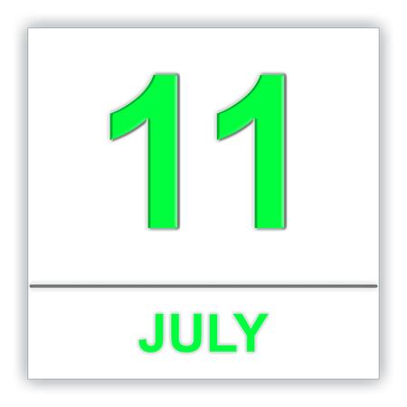 July 11. Day on the calendar. 3D illustration Stock Photo