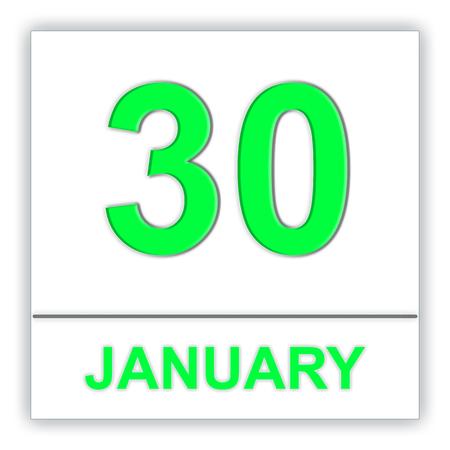 January 30. Day on the calendar. 3D illustration