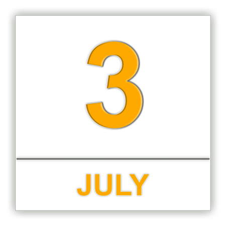 July 3. Day on the calendar. 3D illustration Stock Photo