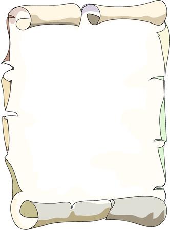 Old scroll paper Illustration