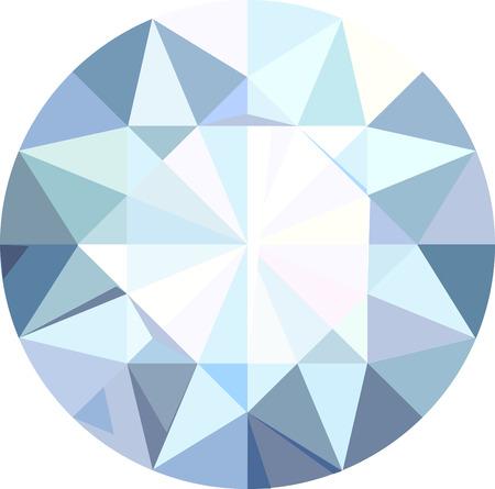 Diamond isolated on white Illustration