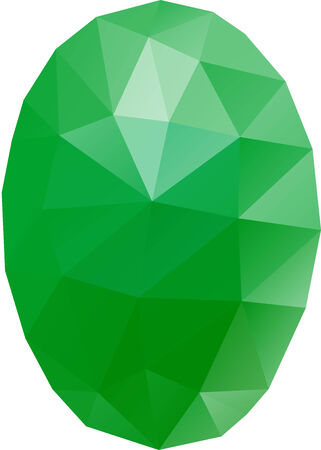 Polygon easter green egg in geometric style Vector